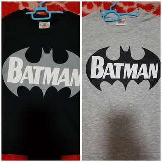 T shirt Batman 😎 Set Adik Beradik ❤ Black Size 1-2 Years Old 😍 Grey Size 3-5 Years Old 😍 RM 16 RM 16 DUA BAJU👕