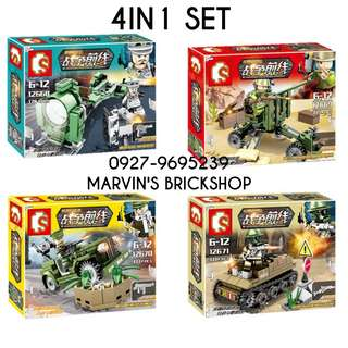 For Sale Building Blocks Toy Military Soldiers 4in1 set