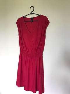 H&M Red Satin Dress