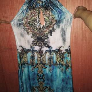 Revealing summer dress/party dress with chain