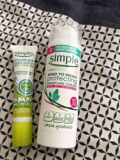 Simple spotless skin rapid action & simple moisture cream spf 30