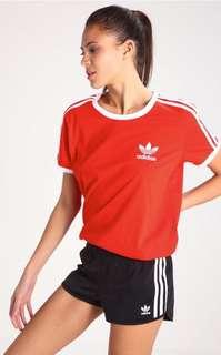 Adidas red/orange t shirt