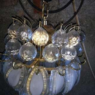 Jual lampu hias kristal asli