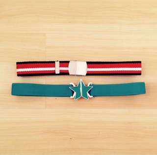Lot of 2 Belts for Girls