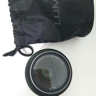 LUMIX Panasonic DG SUMMILUX 25mm f1.4 大光圈鏡頭含郵資