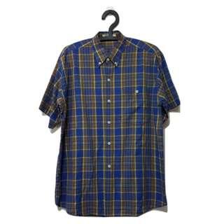 第二件 8 折🎉藍色格紋襯衫 復古 古著 二手