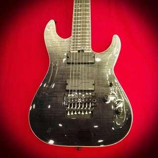 Schecter Guitar C-7 FR  SLS Elite Black Fade Burst