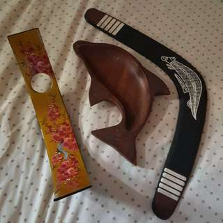 Wine holder,dolphin plate N boomerang