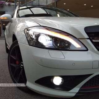 Mercedes S Class Facelift Head Lights