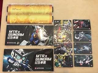 MTR x Gundam 港鐵 高達 紀念車票