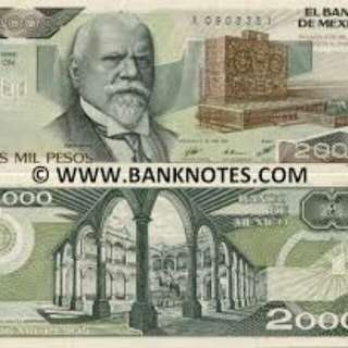 Mexican 2000 pesos