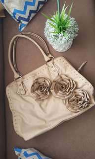 Aldo nude floral and studded bag