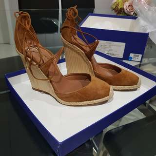 Authentic Aquazzura espadrille wedge heels