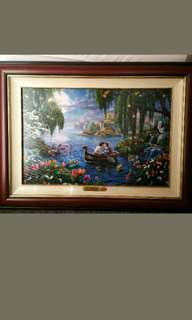 100% authentic limited edition Thomas Kinkade Little Mermaid II framed painting