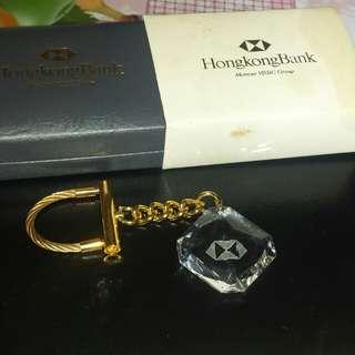 HSBC 滙豐水晶匙扣