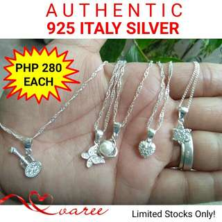 925 Italy Silver Necklace