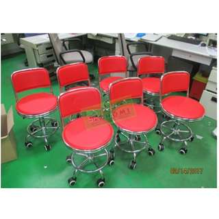 RED BAR STOOL DRAFTING CHAIRS  TELLERS CHAIR--KHOMI