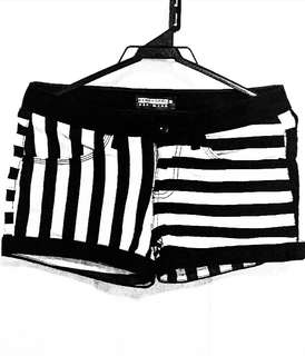 Penshoppe Stripped Low Waisted Shorts