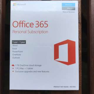 Microsoft Office 365 (Personal Subscription)