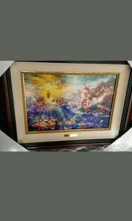 100% authentic Thomas Kinkade limited edition Little Mermaid framed painting