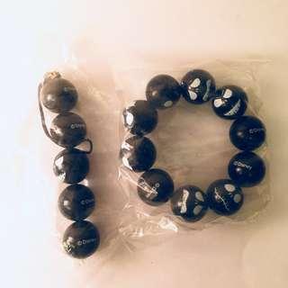 Jack Mobile Accessory + Bracelet set Black