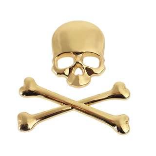 3D Skull Sticker
