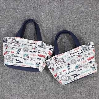日本雜誌 Mickey Mouse 米奇老鼠 便當袋 卡通便當包 手提袋 可愛飯盒包