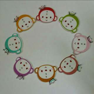 Decorative Cartoon Monkey with Crown 2 Holes Buttons