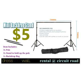 $5 Portable Backdrop Stand -