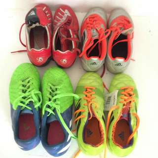 Various soccer shoes
