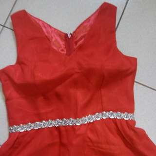 PRELOVED RED DRESS GOOD AS NEW