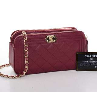 Chanel classic double zipper
