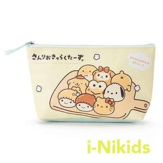 🇯🇵日本直送 - 原裝日版 Sanrio - Mix Characters 麵包系列拉鍊萬用袋 / 化妝袋