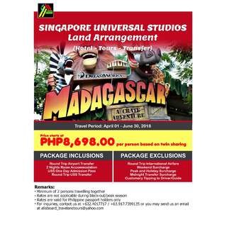 Singapore Universal Studios Land Arrangement