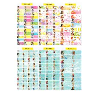 🚚 Sticker Set 2 - Waterproof Name Stickers - Disney Princess, Frozen, Robocar Poli, Pororo, Planes, Princess Sofia, Quties Pooh, Quties Disney