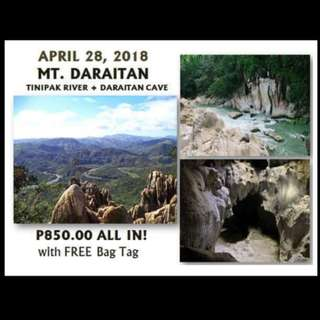 Mt. Daraitan- April 28