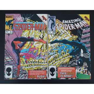 Web of Spider-Man #6 & Amazing Spider-Man #268 (1985 1st Series)-Set Of 2, Secret Wars II crossover issues with Special PAIRED-Covers!