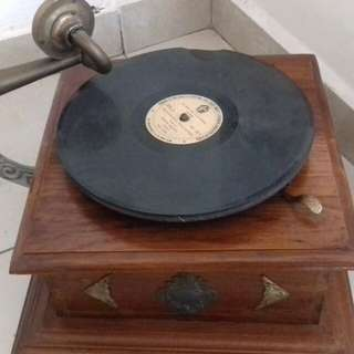 Vintage Gramophone still functional and very old player It's Master Voice not turntable