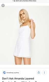 Don't ask Amanda - general pants co - white broderie cotton dress. size XS