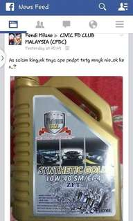 PLATINUM OIL LUBRICANT - ENGINE OIL/MINYAK HITAM