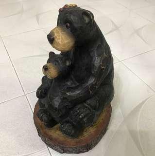 可愛熊人擺設