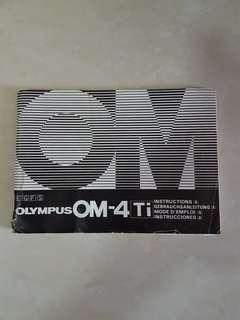 Olympus OM4 ti manual