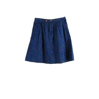 GAP Blue Floral Skirt