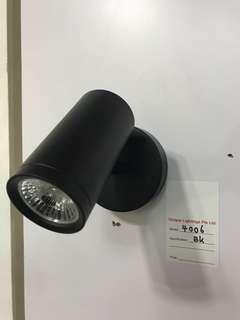 Led wall light (easy change bulb)wh&bk