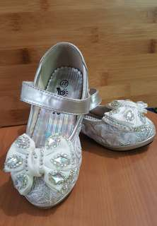 Silver Glittery  Girl's Shoes