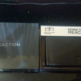Kenneth Cole Reaction Black Leather Wallet