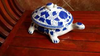 Ceramic Tortoise Container