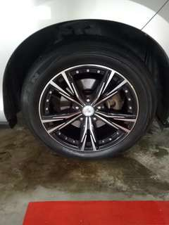 "17"" Sports rims(5x114.3) with Nexen tyres for Swop"