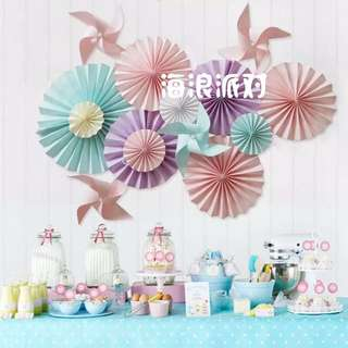 Paper Decorations / Backdrop  (does Not Include Wind Mill)