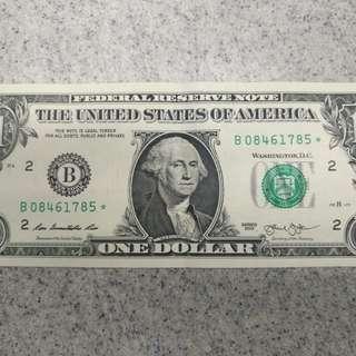 美金補版**1 元